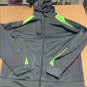 Reebok Gray jacket large hooded